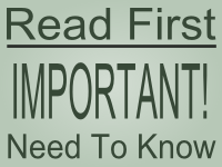 Read First Important Need To Know